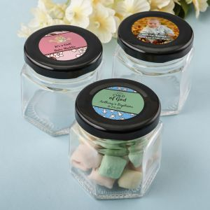 Personalized Baby Small Hex Jars